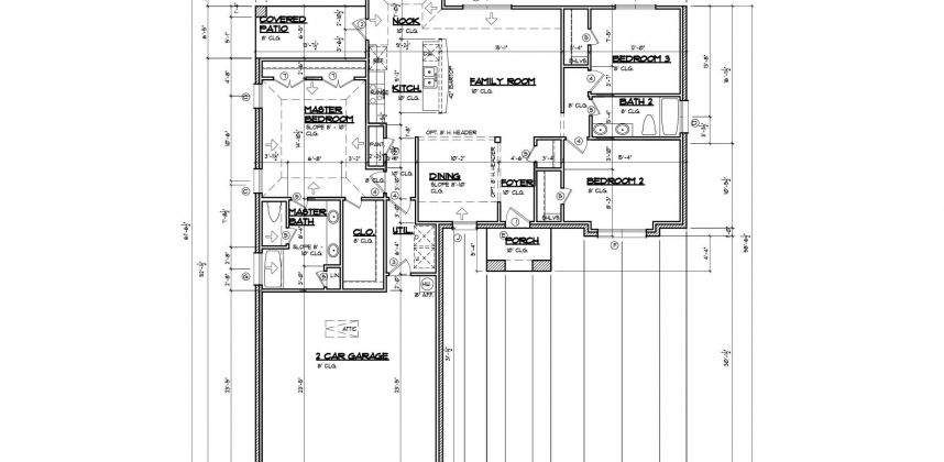 Floor Plan 1A Custom 3-Bed 2-Bath