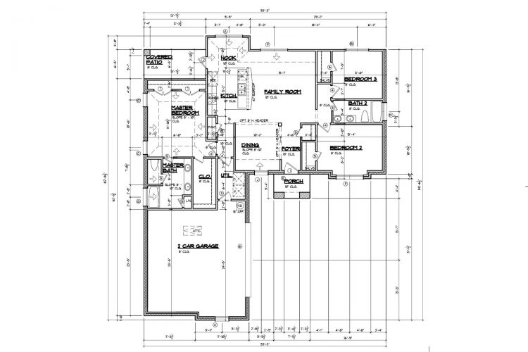 Floor Plan 1B Custom 3-Bed 2-Bath
