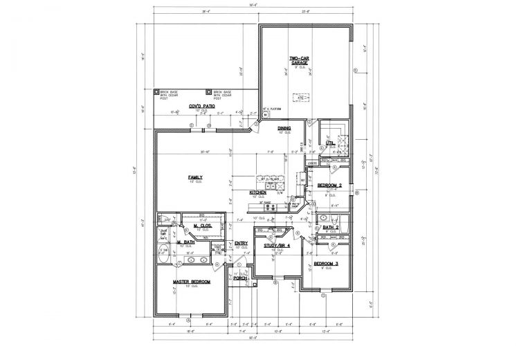 Floor Plan 2A Custom 4-Bed 2-Bath